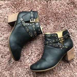 Geox Navy Blue Ankle Boots Sz 8